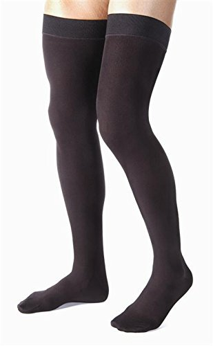 BSN Medical/Jobst 115415 for Men Compression Hose, Thigh High, 30-40 MMHG, Closed Toe, X-Large, Black by BSN Medical/Jobst (Image #1)