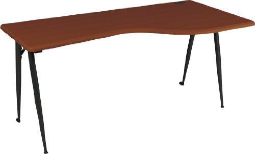 Balt iFlex Modular Desking System Right Table, Full, Cherry/Black