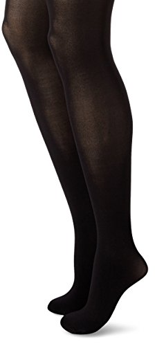Hanes Women's Powershapers Firm Control High Waist Opaque Tights, Black,Medium