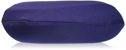 Lavish Home Memory Foam Travel Pillow- Round U-Shaped Neck/Head Support with Pillowcase Protector for Sleeping, Airplanes, Train and Camping by (Navy) by Lavish Home (Image #3)