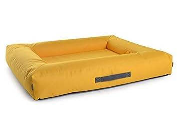 Perros Cojín cama para perros de nylon, Amarillo, en deseos con ortopédica viscoelástica Espuma: Amazon.es: Productos para mascotas