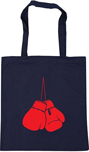 10 Tote Boxing HippoWarehouse Navy Bag x38cm Beach French Gym litres gloves Shopping 42cm OwxECzxq