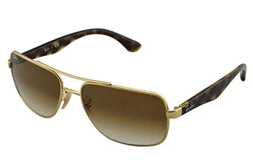 Ray Ban RB3483 001/51 60 Arista/Crystal Brown Gradient Sunglasses Bundle-2 - Highstreet Ban Ray Gold