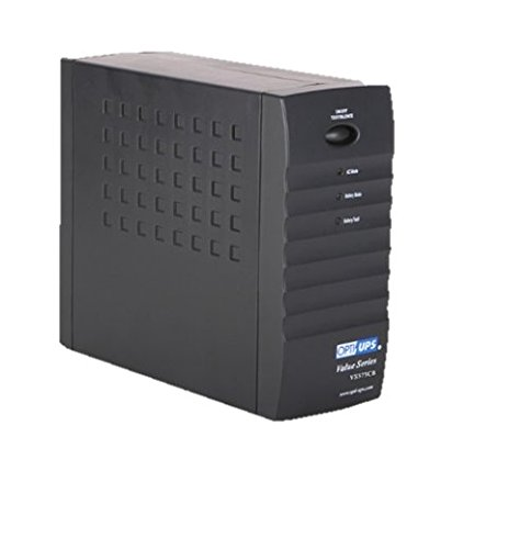 OPTI-UPS VS575CB (575VA, 345W) Uninterruptible Power Supply 6-outlet ups battery backup for computer, NAS, Camera, surveillance, storage, security, Compact system
