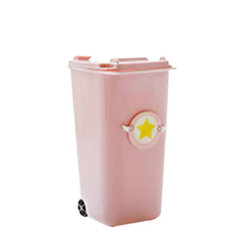 Mini Trash Can Storage Bin Pen Cup Desktop Garbage Shape Pink Pencil Holder Students Supplies