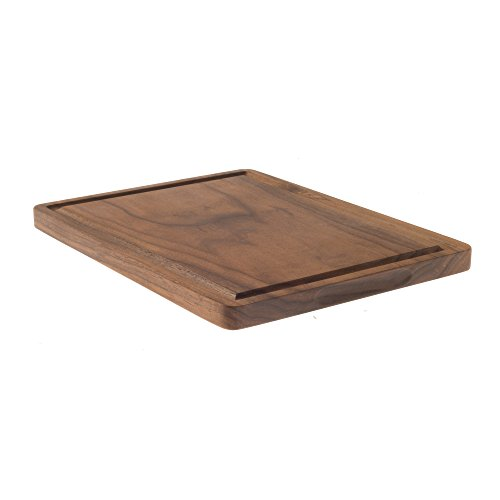 Reversible Countertop Board - Medium Walnut Cutting Board with Juice Groove for Chopping (9