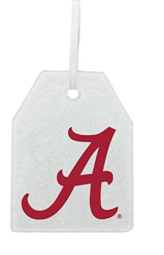 (Neil Varsity Alabama Crimson Tide Glass Ornament)