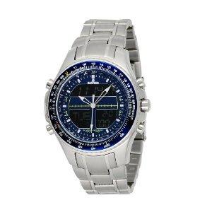 Sartego Men's SPW33 World Timer Quartz Chronograph Watch