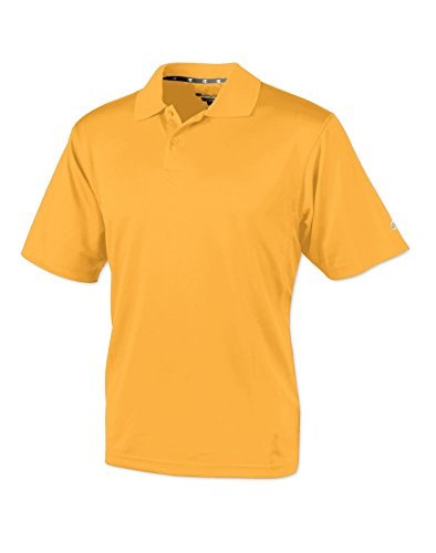 Yellow Gold Duo - Champion H131 Double Dry Mens Solid-Color Polo Shirt Size Large, C & Gold Yellow