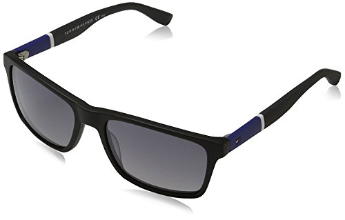 Tommy Hilfiger Thilfiger 1405/S 0FMV Bkblwh Gray IC gray mirror shaded silver lens - Hilfiger Mens Tommy Sunglasses