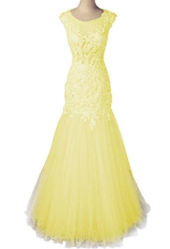 Annies Femmes De Mariée En Dentelle Florale Tulle De Cou Appliques Bijou Robes Longues De Sirène A15