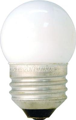 GE 41267 7.5-Watt White S11 1CD Incandescent Night Light Bulb, Soft White, S11 Shape, 39 Lumens, E26 Medium Base