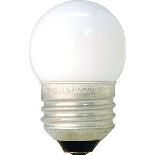 GE 41267 (10-Pack) 7.5-Watt White S11 1CD Incandescent Night Light Bulb, Soft White, S11 Shape, 39 Lumens, E26 Medium Base