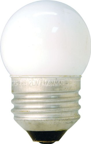 GE 41267 (4-Pack) 7.5-Watt White S11 1CD Incandescent Night Light Bulb, Soft White, S11 Shape, 39 Lumens, E26 Medium Base