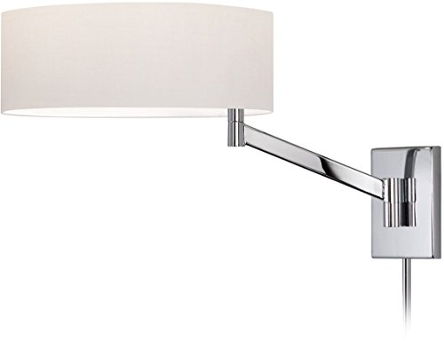 Sonneman 7080-01 1 Light Swing Arm Wall Lamp Perch Collection, Polished Chrome