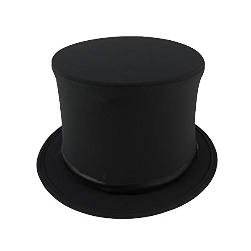 Black Collapsible Magician Top Hat Performer Costume Accessory Novelty Prom Prop -