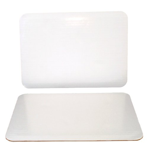 """Southern Champion Tray 1149 Corrugated Greaseproof Single Wall Cake Pad, Quarter Sheet, 14"""" L x 10"""" W Bright White (Case of 100)"""
