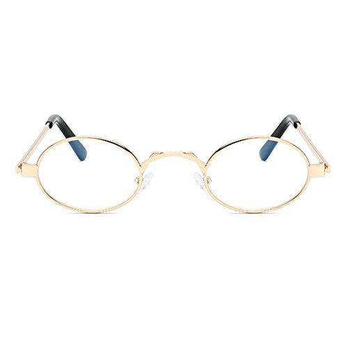 para Gafas Gafas pequeñas vintage Gafas sol metal mujer C4 con de Juleya ovaladas marco de rq8ESq