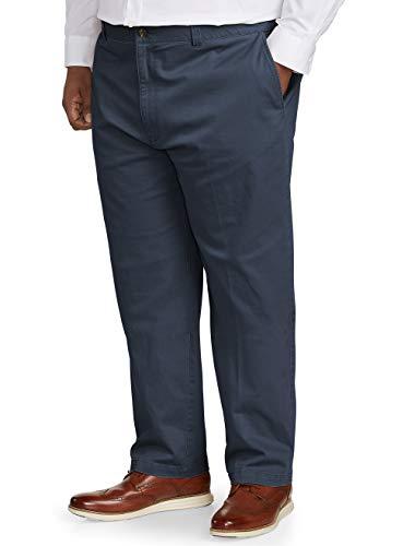 Amazon Essentials Men's Tall Relaxed-Fit Casual Stretch Khaki Pant, Navy 48W x 32L (32l Khaki)