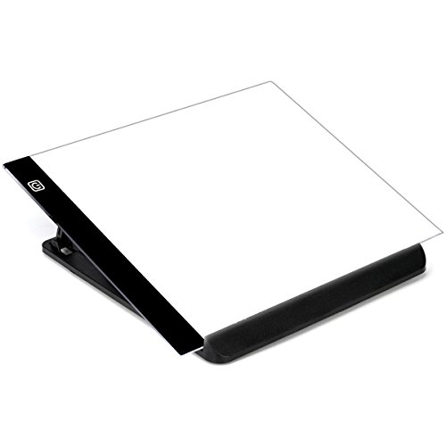 Blue Venture A4 - 4mm Portable LED Light Box Tracer, Adjustable Light Pad for Tracing,for DIY 5D Diamond Painting,Copy Board for Artists Drawing (No Scale with Holder)