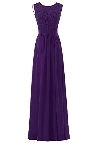 DYS Women's Lace Bridesmaid Dress A Line Prom Party Dresses Diamond Back Purple US 16