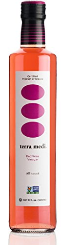 Terra Medi Greek Red Wine Vinegar, 17 Ounce (Best Wine With Greek Food)