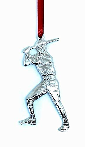 855 Baseball Player Coach Ornament Pewter