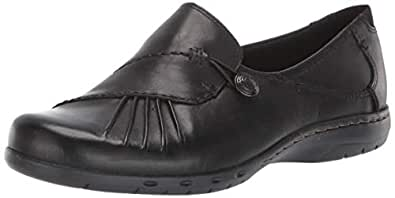 ROCKPORT Cobb Hill Women's Paulette Flat, Black, 6 M US
