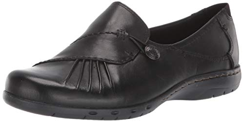 Rockport Cobb Hill Women's Paulette Flat, Black, 11 W US
