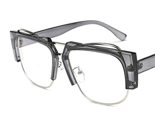 cadre unisexes de lunettes Huyizhi UV400 de Grey de Cool demi voyager l'extérieur protection Verres de mode wvqxRxEIW7