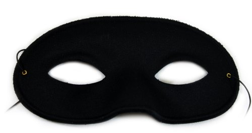 Success Creations Domino Matte Black Unisex Masquerade Mask (6 Masks) -