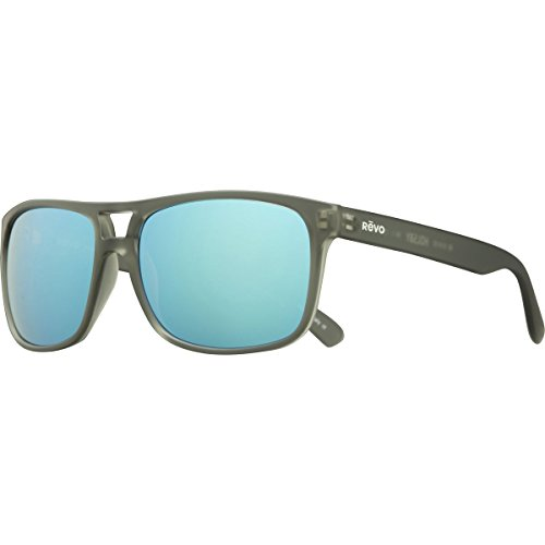 Revo Holsby RE 1019 00 BL Polarized Square Sunglasses, Matte Grey/Crystal Blue Water, 58 mm