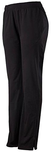 Augusta Sportswear Women's Solid Brushed Tricot Pant, Black, (Solid Brushed Tricot Pant)