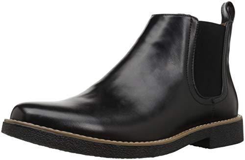 Deer Stags Men's Rockland Memory Foam Dress Casual Comfort Chelsea Boot, Black, 8.5 Medium US ()