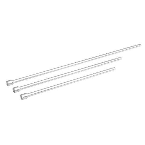 Tooluxe 04158L 1/4'' Socket Wrench Extension Bar Set, 3 Pieces, Extra Long (12'', 15'', 18'') by Tooluxe