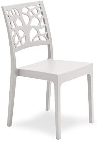 sedia cucina propilene bianca