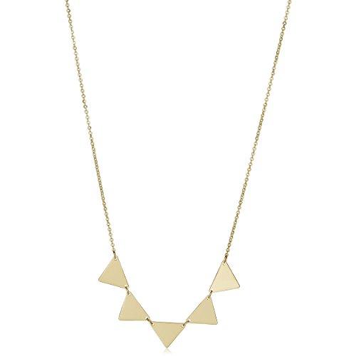(Kooljewelry 14k Yellow Gold Triangle Necklace (18 inch))