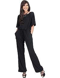 Womens Short Sleeve Long Pants Suit Jumpsuit Playsuit One...