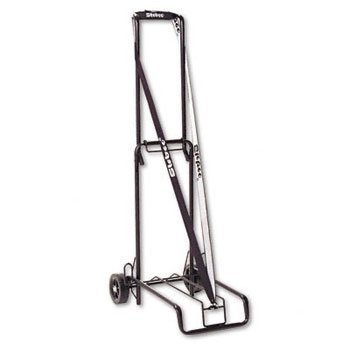 Luggage Cart, 125lb Capacity, 13 x 10 Platform, Black Steel by BONDST