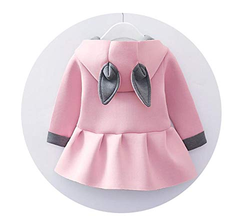 Price comparison product image Outwear Infants Girls Cute Rabbit Hooded Princess Jacket Coats with Ball New Year Clothe