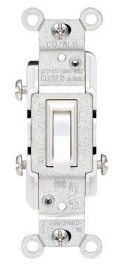 mp, 120 Volt, Toggle Co/Alr 3-Way AC Quiet Switch, Residential Grade, Grounding, White ()