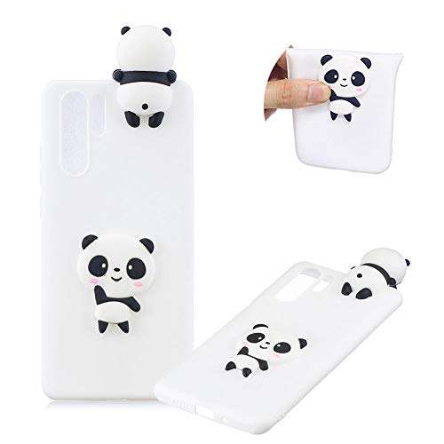 TPU Case for Huawei P30 Pro,Moiky Funny 3D White Panda Design Ultra Thin Soft Silicone Resistant Back Cover Phone Case Unique Style Protect Case