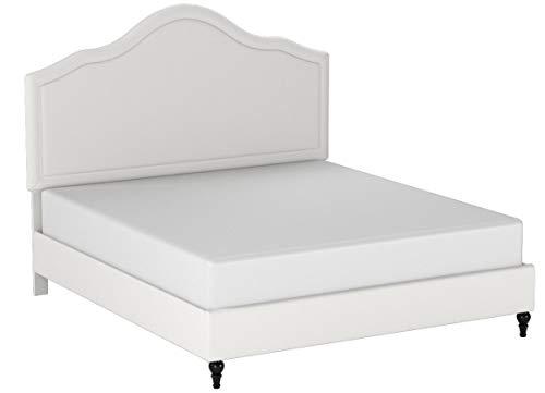 """Home Life Cloth Light Beige Cream Linen 51"""" Tall Headboard P"""