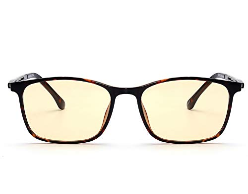 (US Patent-Melanin! Viscare Optical TR90 frame Anti Blue light Blocking Filtering Computer Gaming Reading Reader Glasses Clip On for Eye Fatigue Strain Relief Anti-glare Radiaton Sleep Better UV400)