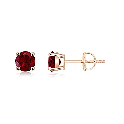 Angara Basket-Set Garnet Earrings in Rose Gold 9IvkQm