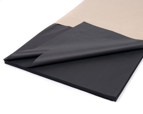 50 Luxury Sheets Acid Free Black Tissue Paper 18'' x 28'' by Bag It Plastics