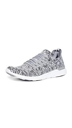 Breeze Mens Shoes - APL: Athletic Propulsion Labs Men's Techloom Breeze Sneakers, Heather Grey/Pristine/White, 10.5 M US
