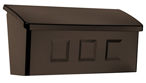 Architectural Mailboxes 2689RZ Wayland Wall Mount Mailbox, Small, Rubbed -