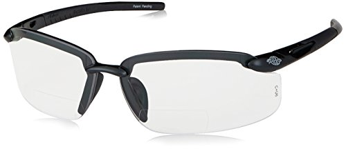 Crossfire Eyewear 296412 1.25 Diopter ES5 Safety Glasses with Gray Frame and Clear (Eyewear Gray Lens)