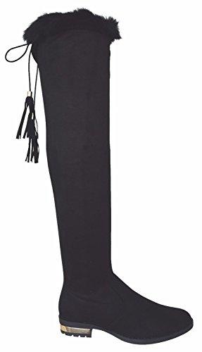 Other Damen Stiefel & Stiefeletten, Grau - Grey FB01 - Größe: 36 EU